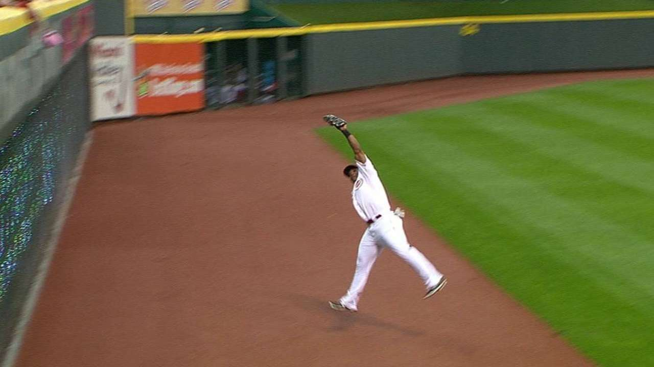 Byrd's leaping catch