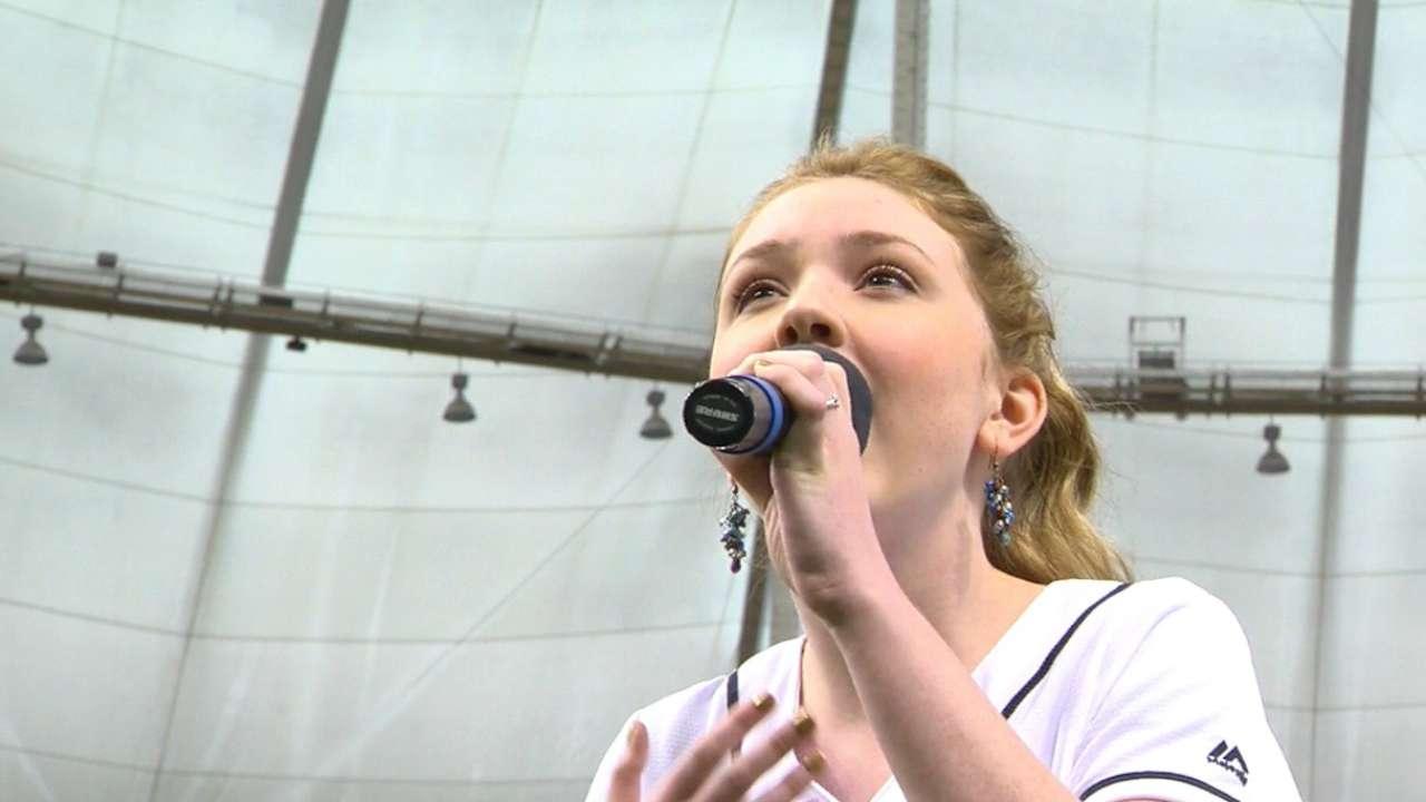 Zuehlsdorff sings anthem
