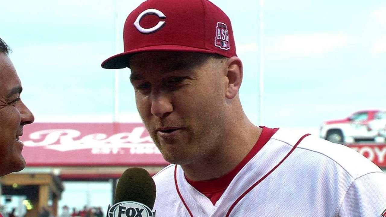 Frazier on his three-run homer