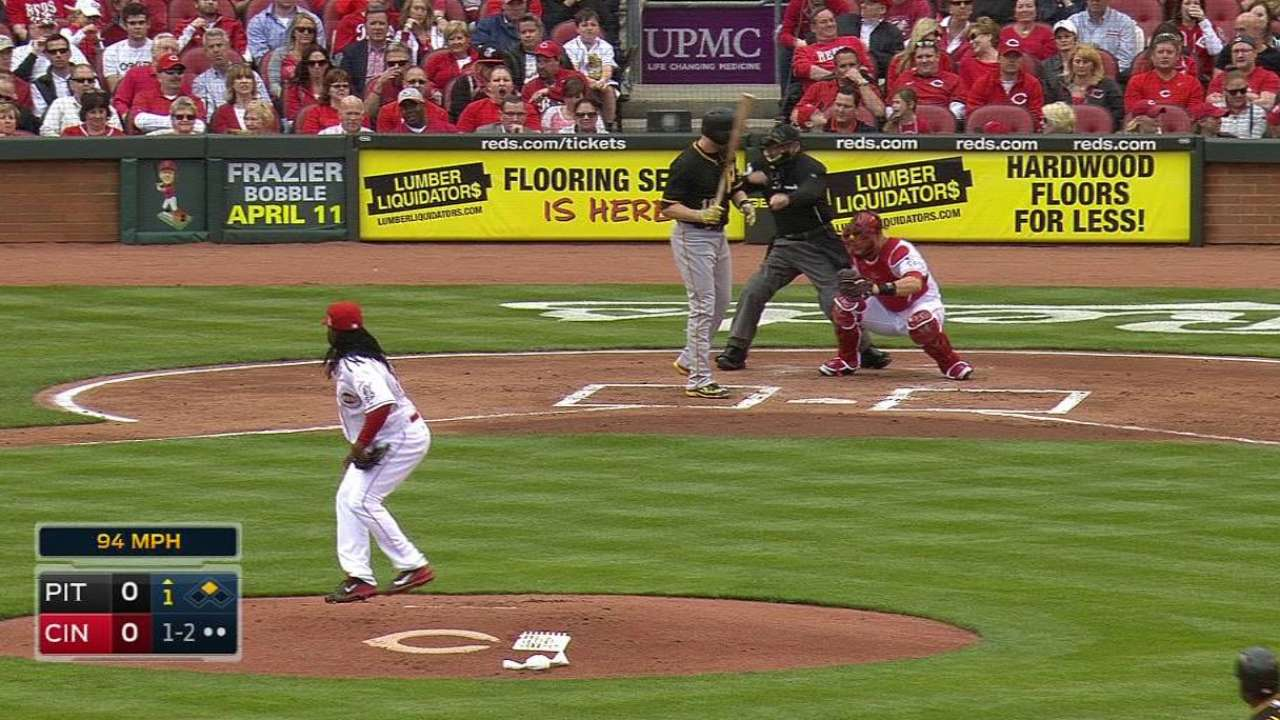 Cueto's first K of 2015