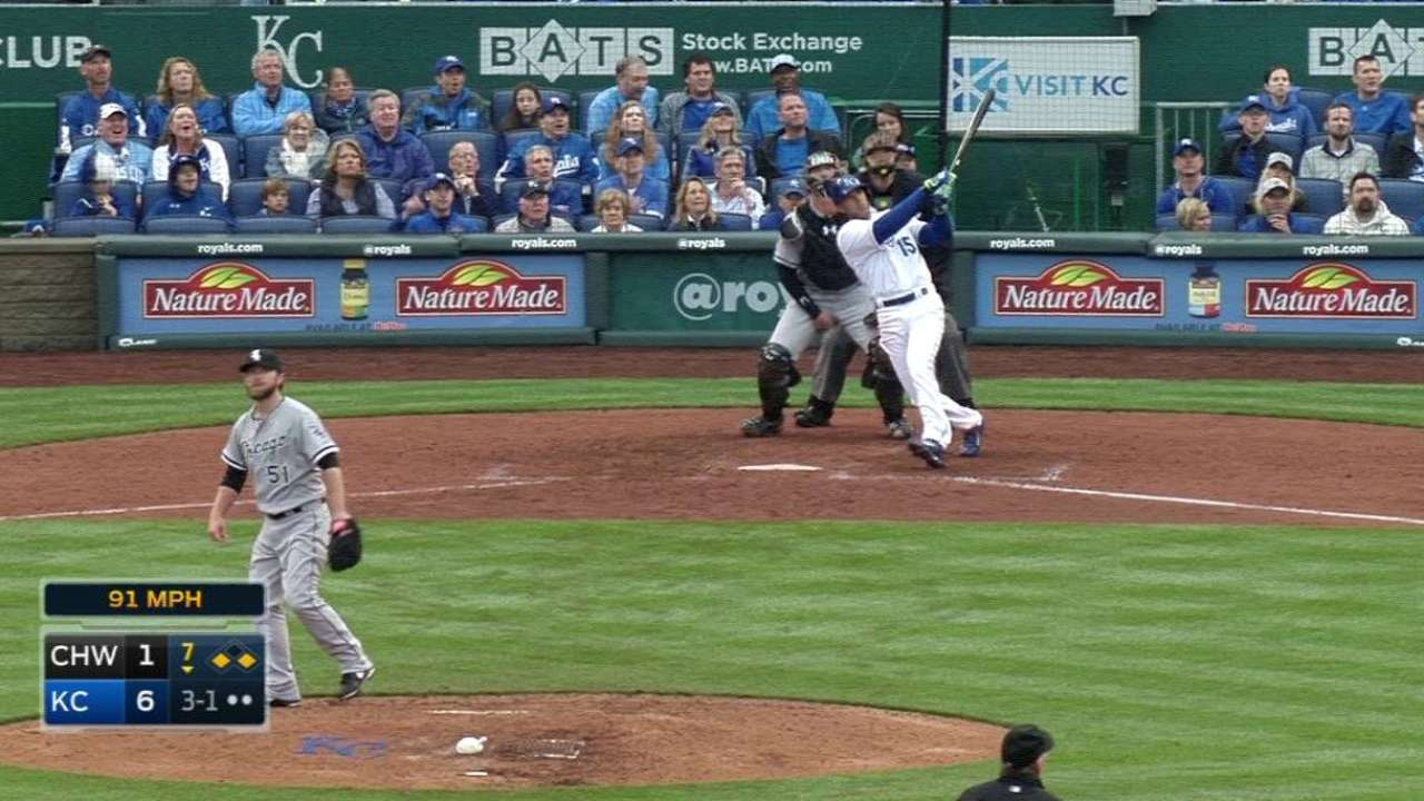 Royals knock out Samardzija in Opening Day win