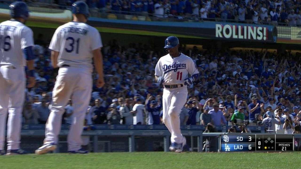 Rollins' HR in 8th spoils Kemp's big day in LA