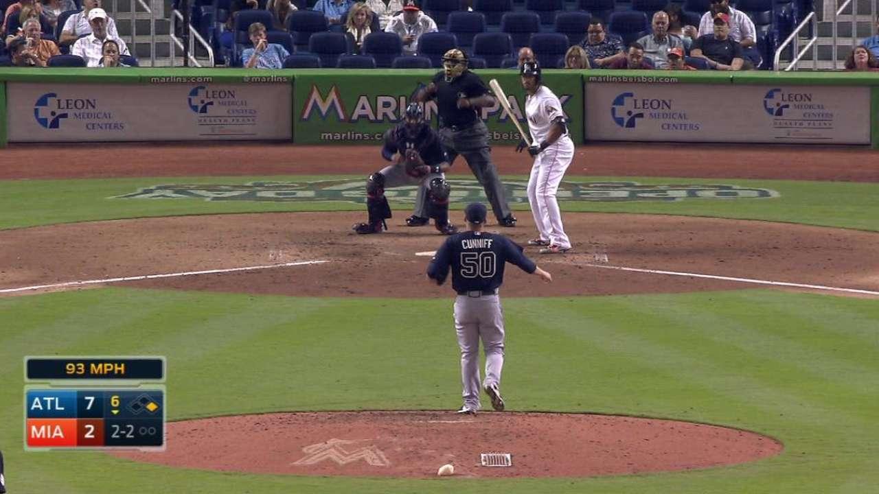 Cunniff's first Major League K