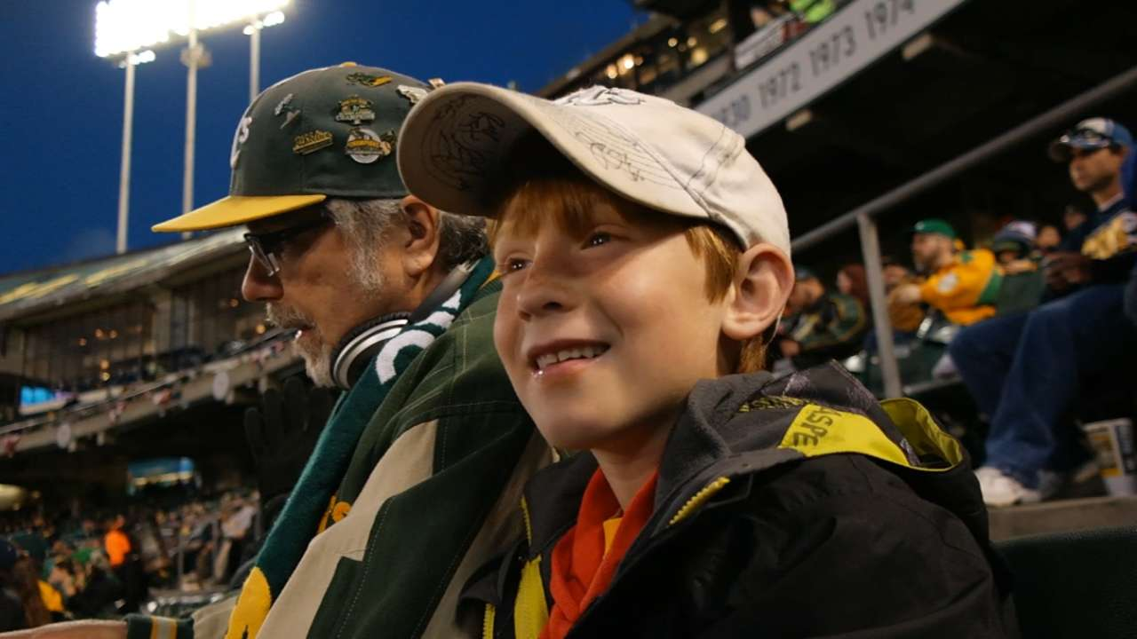 A's do their part to support local youth