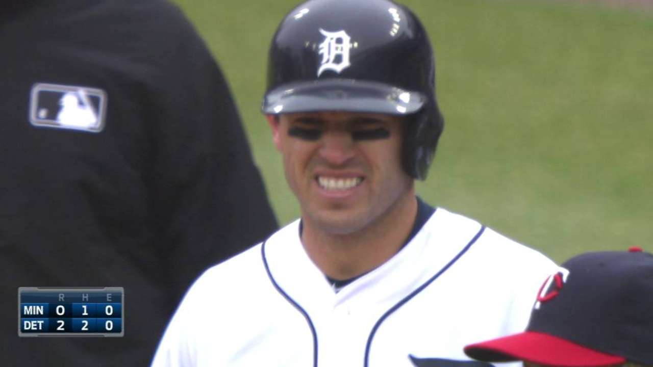 Kinsler's four RBIs help Tigers trip Nolasco, Twins