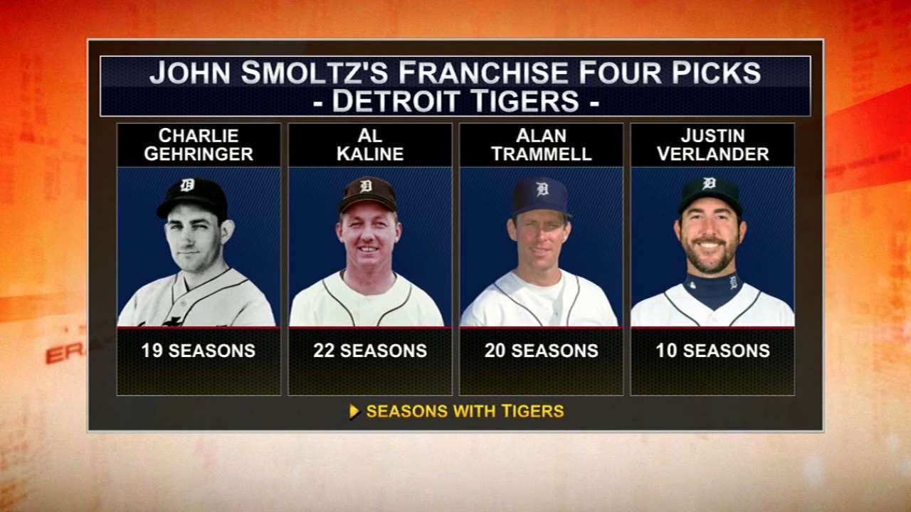 Smoltz 'selfishly' selects Franchise Four for Tigers