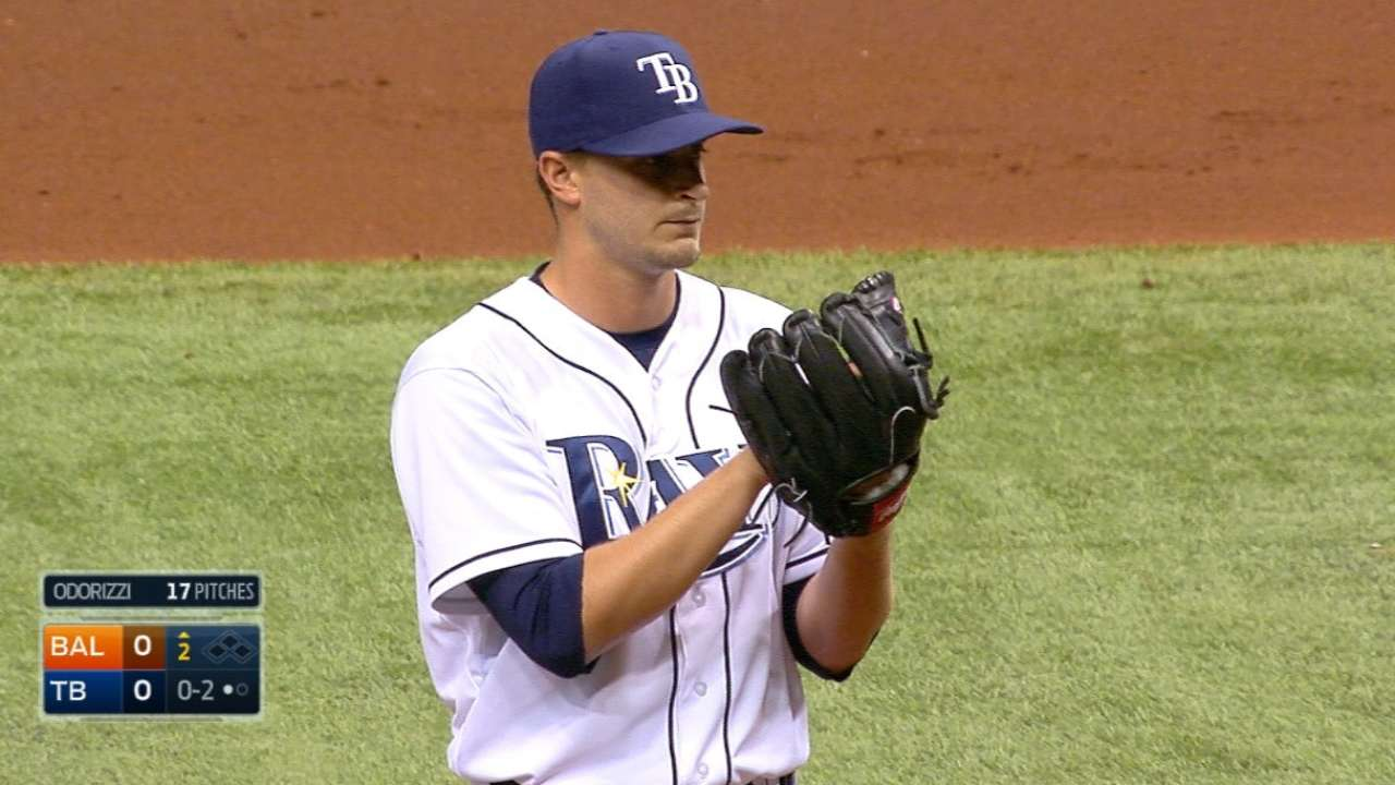 Odorizzi, Rays blank O's for first win