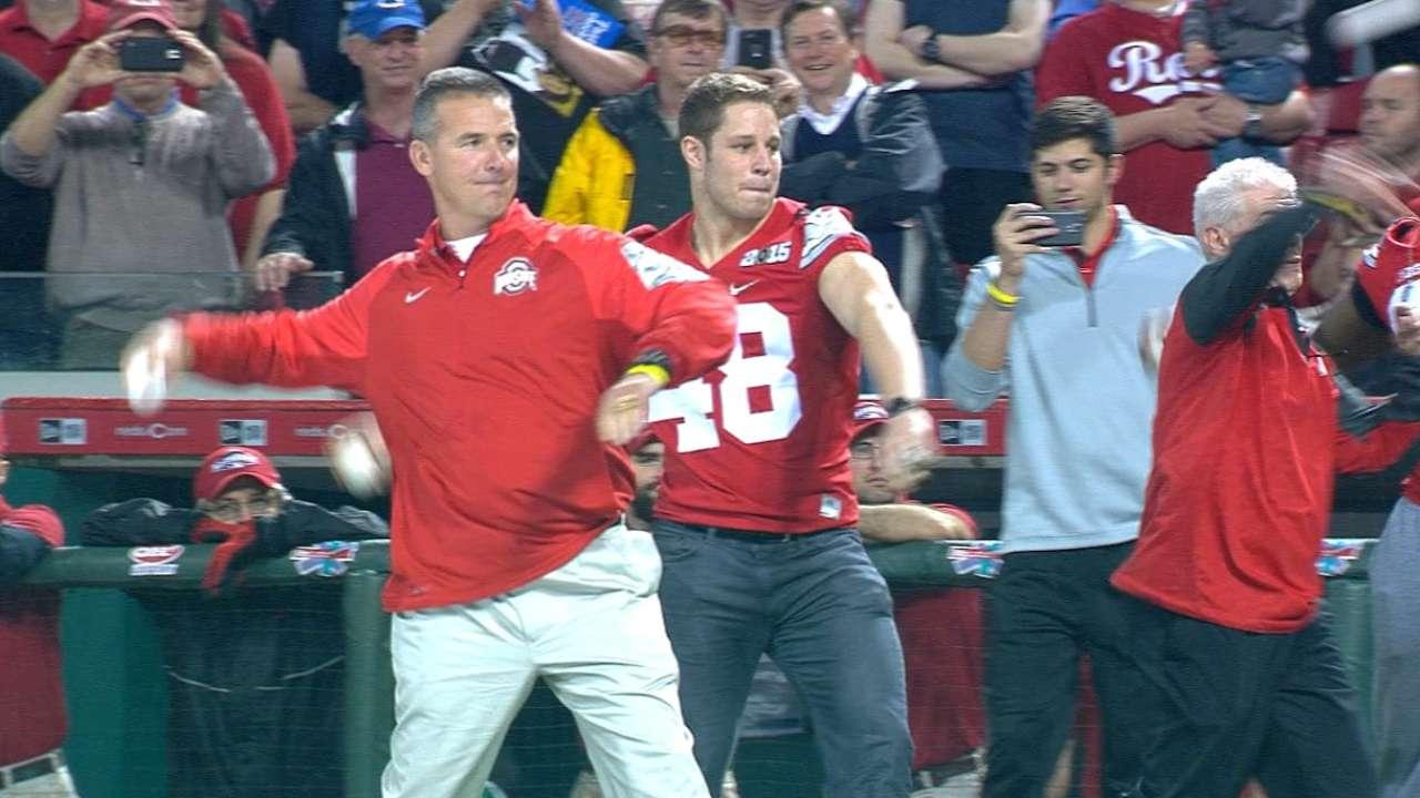 Reds honor champion Ohio State Buckeyes