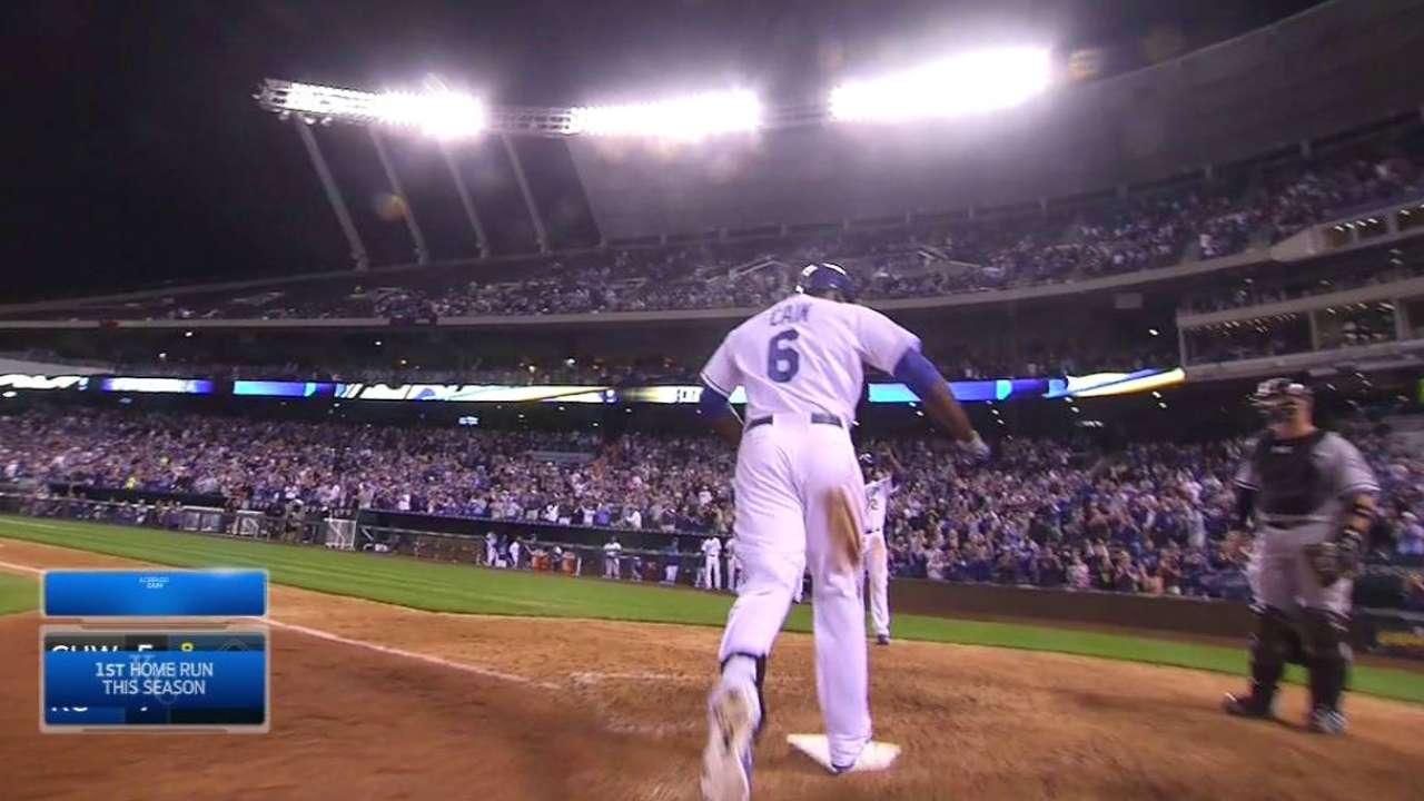 Cain's big two-run homer