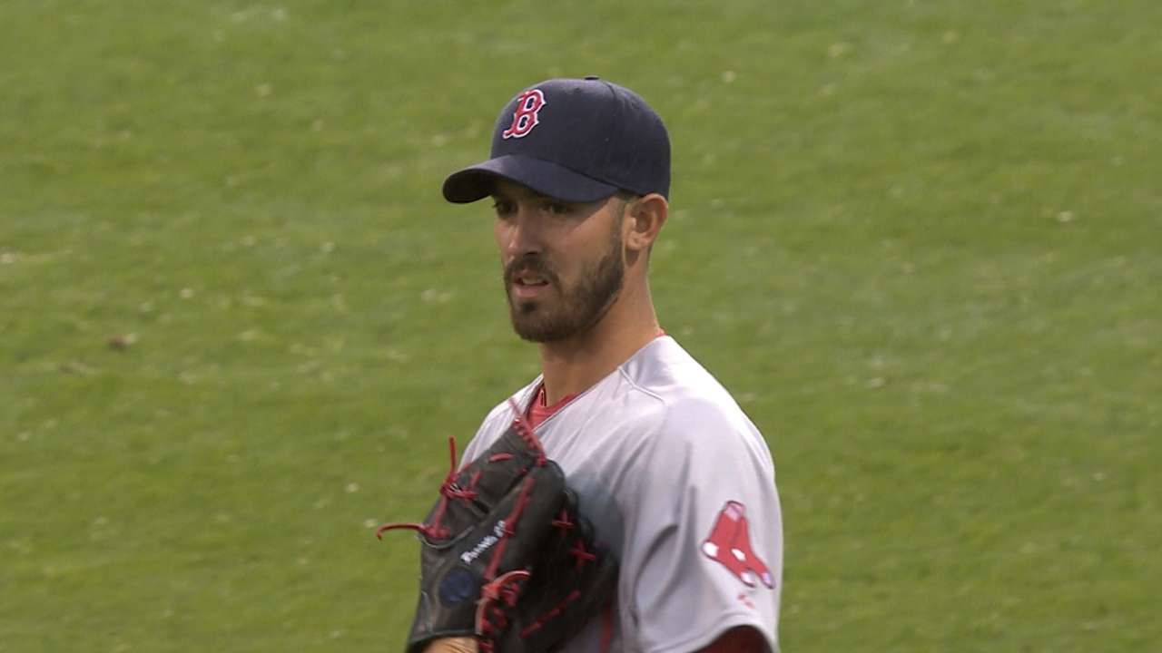 One bad pitch spoils Porcello's debut with Red Sox