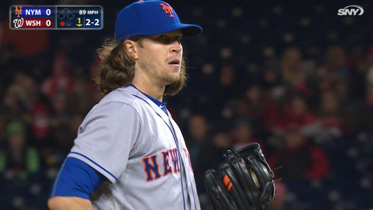 deGrom fans six in quality start