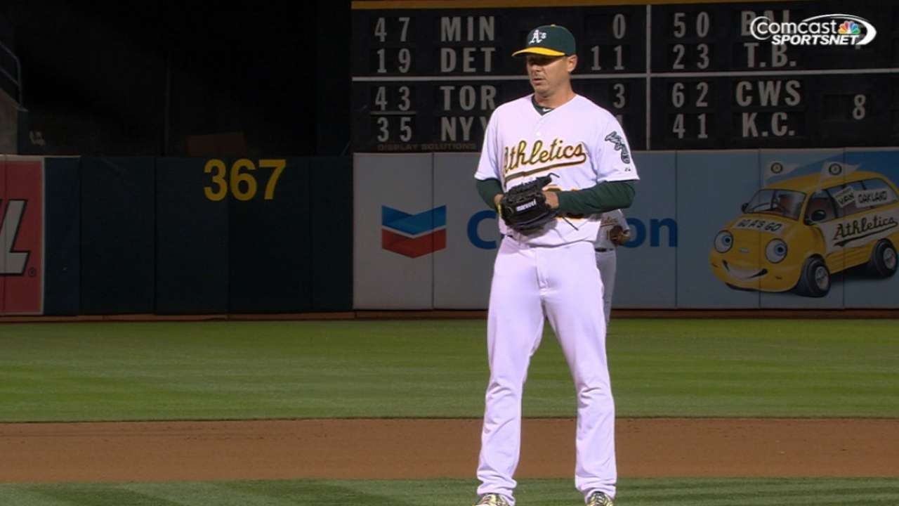 Kazmir fans 10, A's rookies shine in victory over Rangers