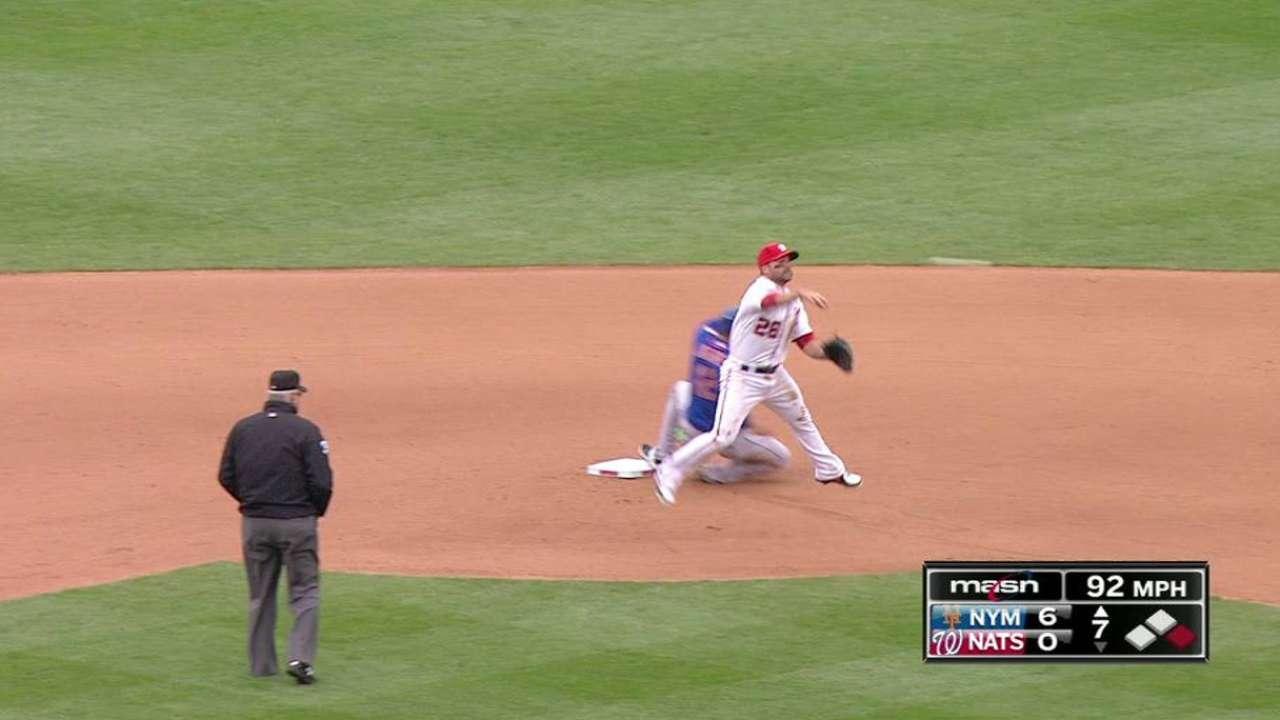 Strasburg batalló y Nacionales cayeron ante Mets