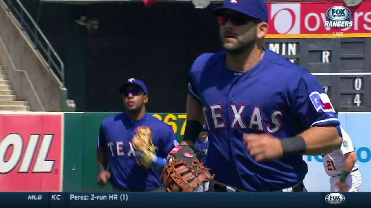 Odor starts double play