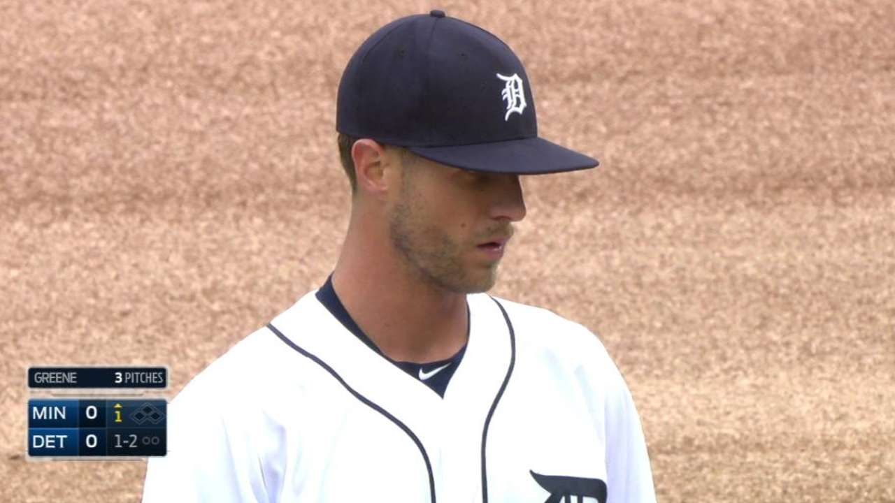 Greene's first Tigers strikeout