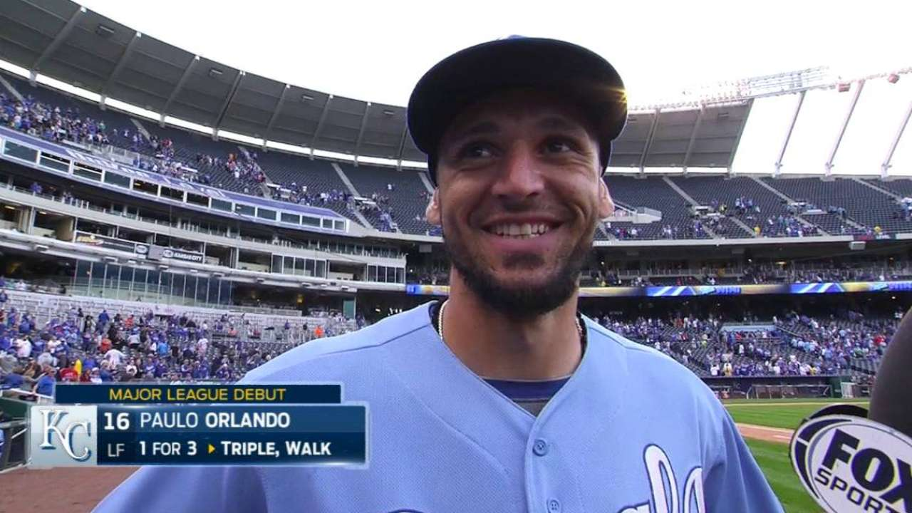 Orlando on Major League debut