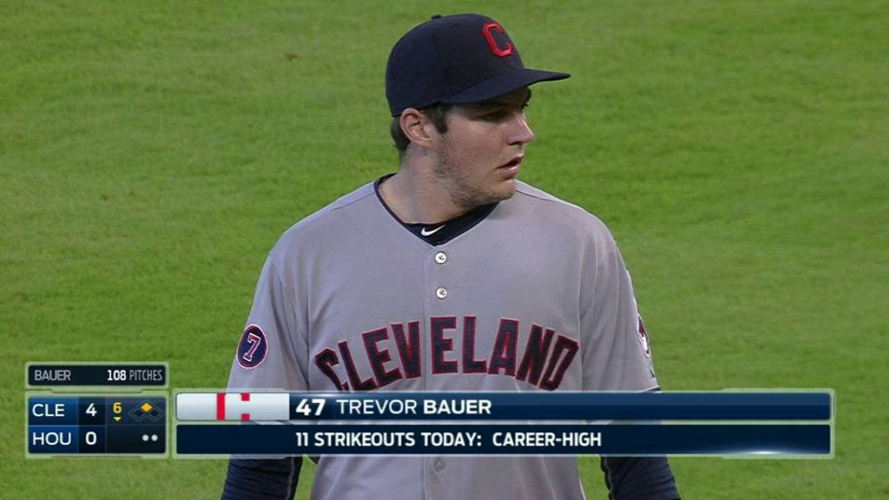 Bauer's career-high 11th K