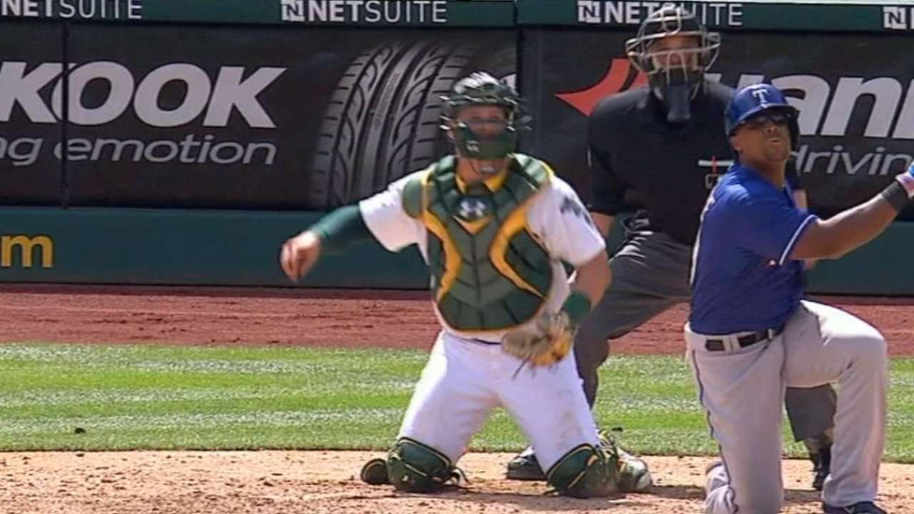 On bended knee: Beltre's crazy home run powers Rangers