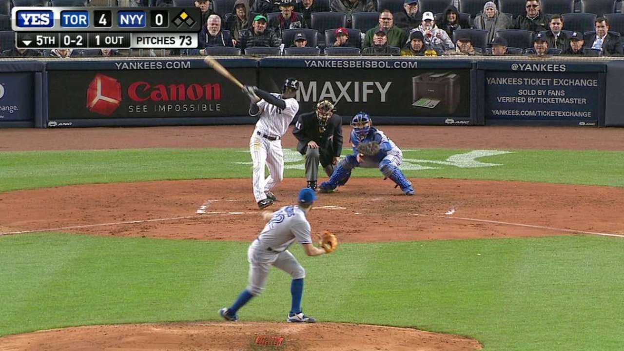 Yankees scuffling with men on base so far