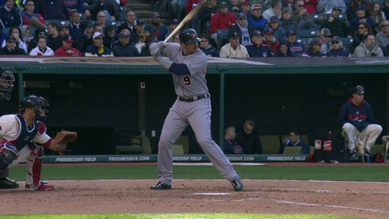 Tigers' hit parade spoils Tribe's homecoming