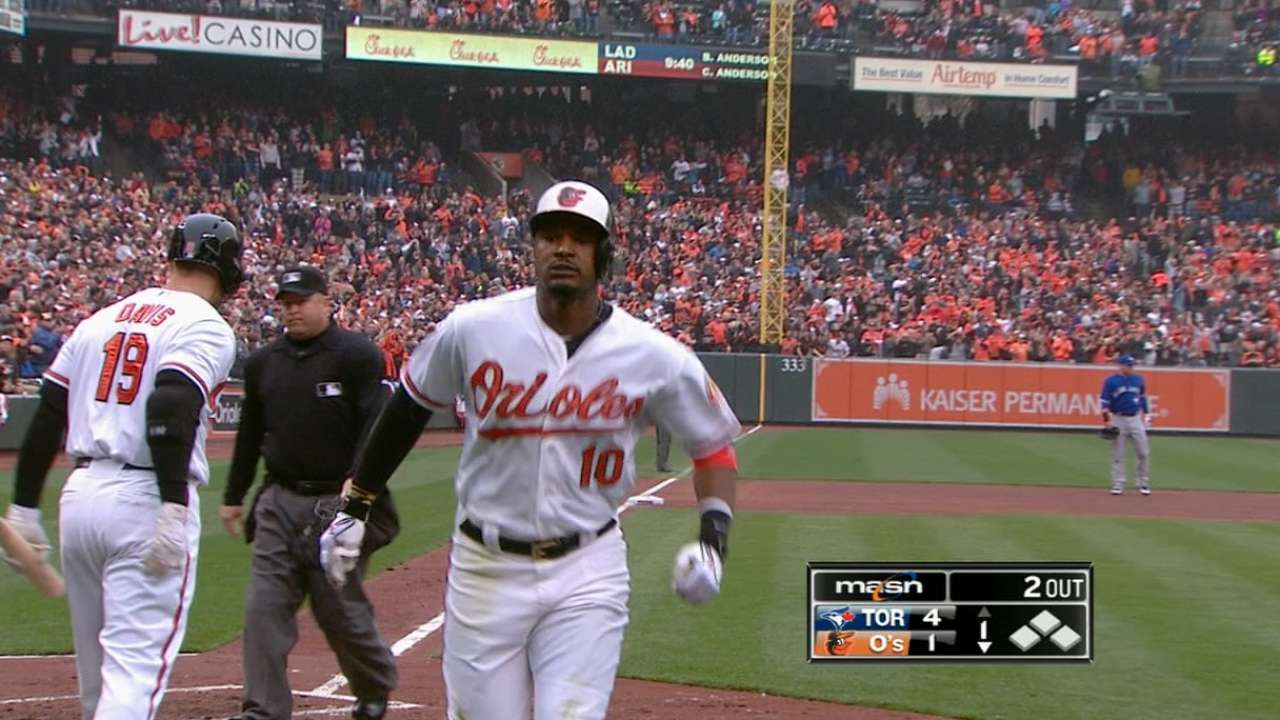 Jones finishes triple shy of cycle in four-hit game
