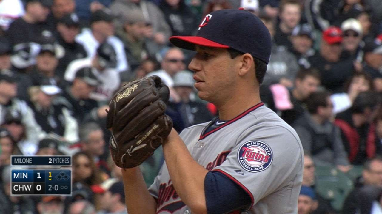 Milone, Twins crash White Sox home opener