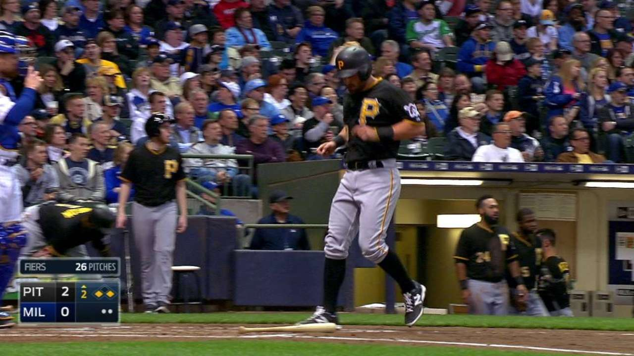 Pirates Locke down 1st 'W' while Brewers stuck winless