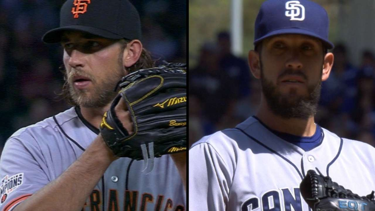 Bumgarner, Shields set for rematch in San Diego