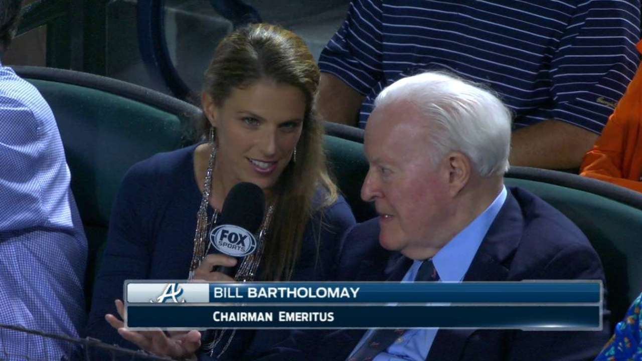 Bartholomay on time with Braves