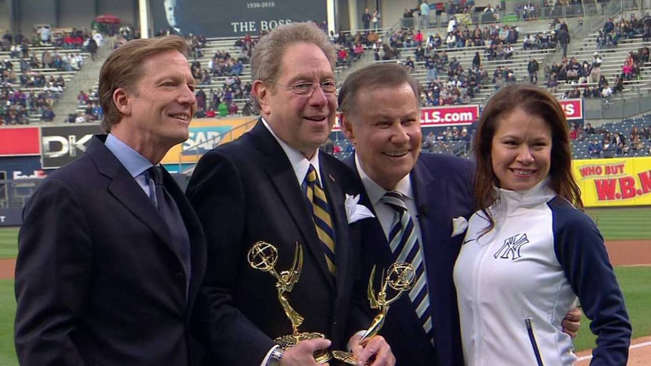 Sterling presented with replacement Emmy Awards