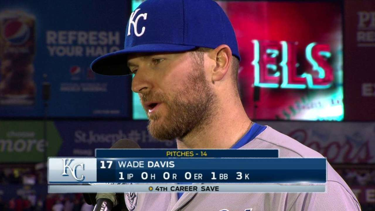 Davis on getting the save