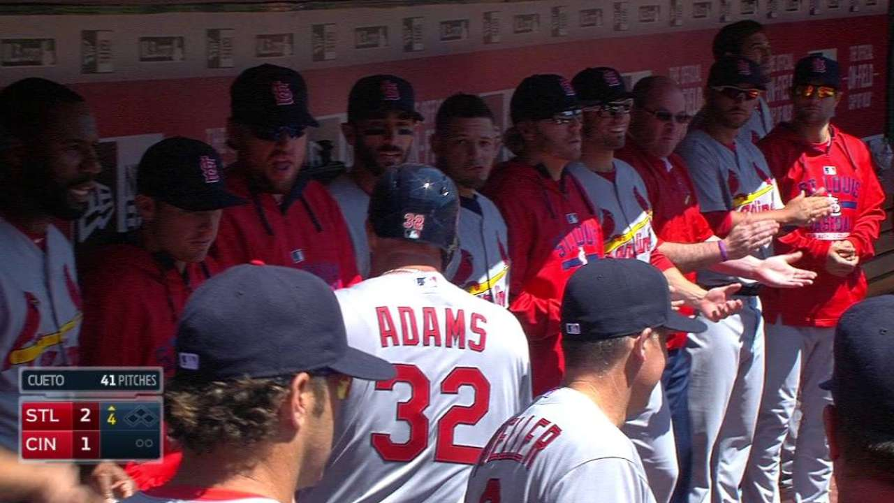 Wacha, Adams lift Cards to even series vs. Reds