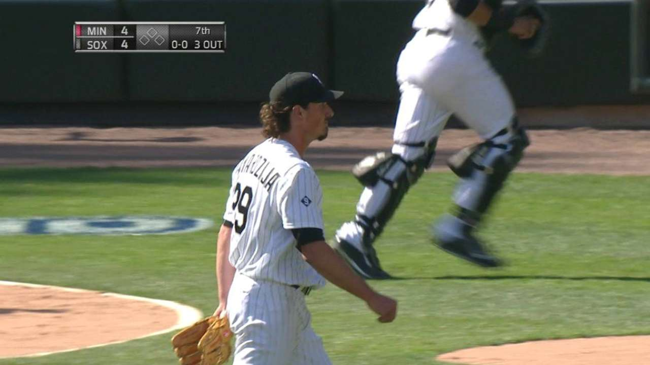 Samardzija gets Dozier looking
