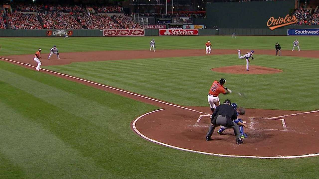 Reyes turns two with bases full