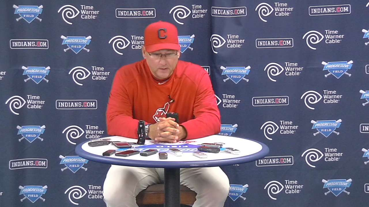 Francona on pitching in loss
