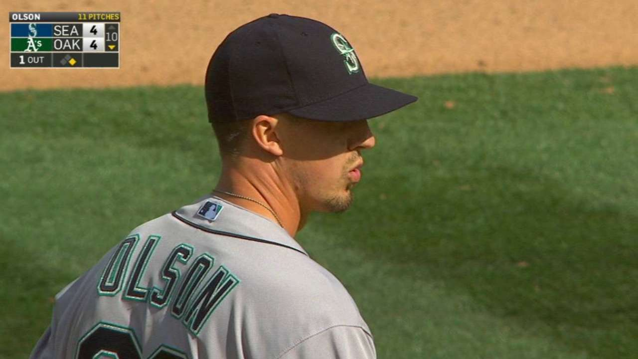 Olson placed on 15-day DL; option rescinded