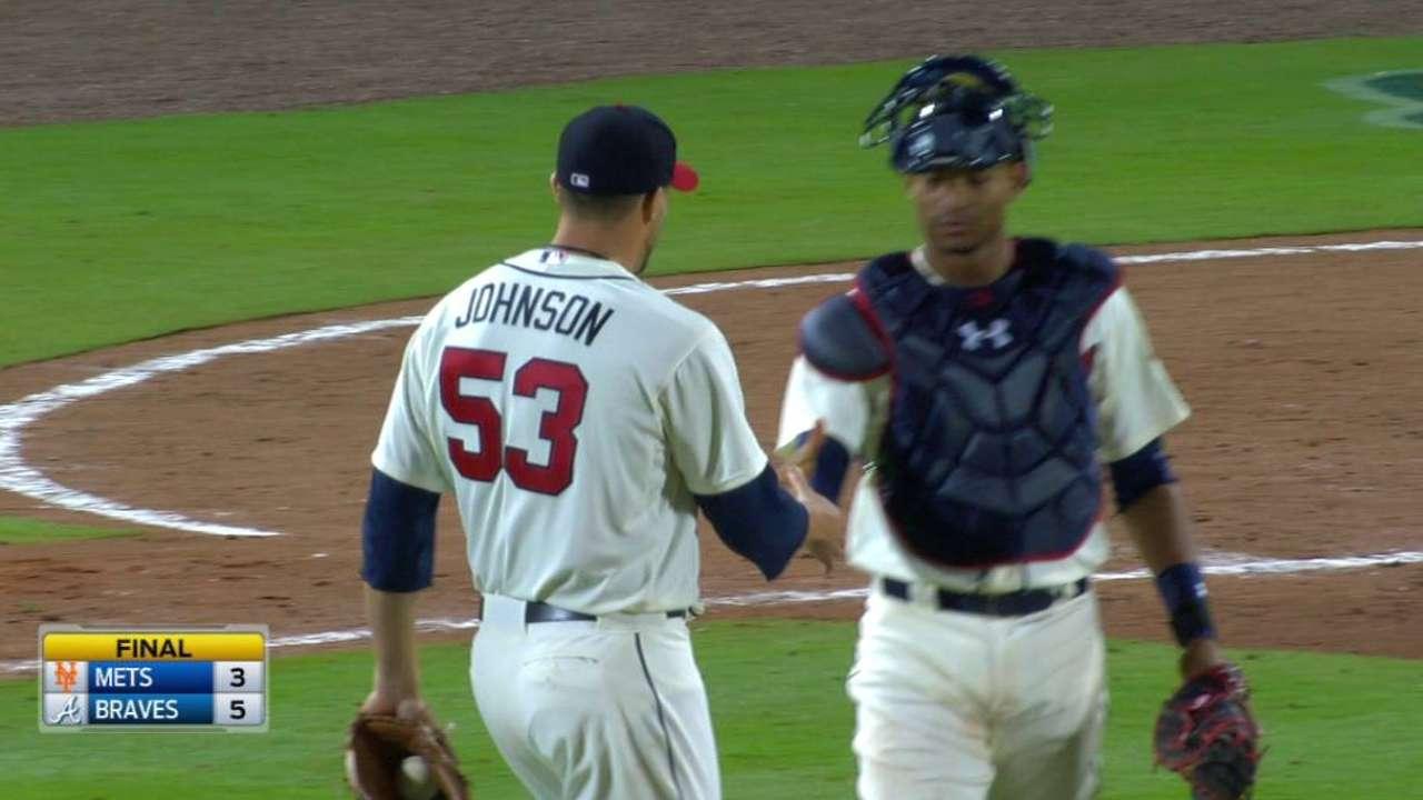 Johnson saves it for Braves