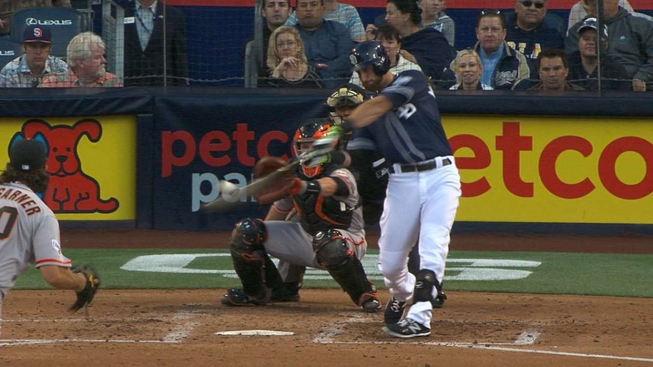 Padres' bats bust out against Giants