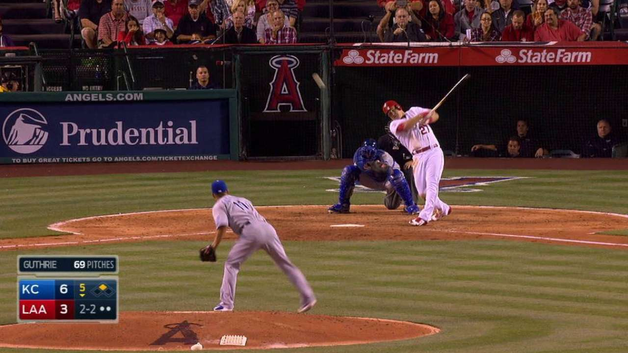 Trout reaches milestone with game No. 500