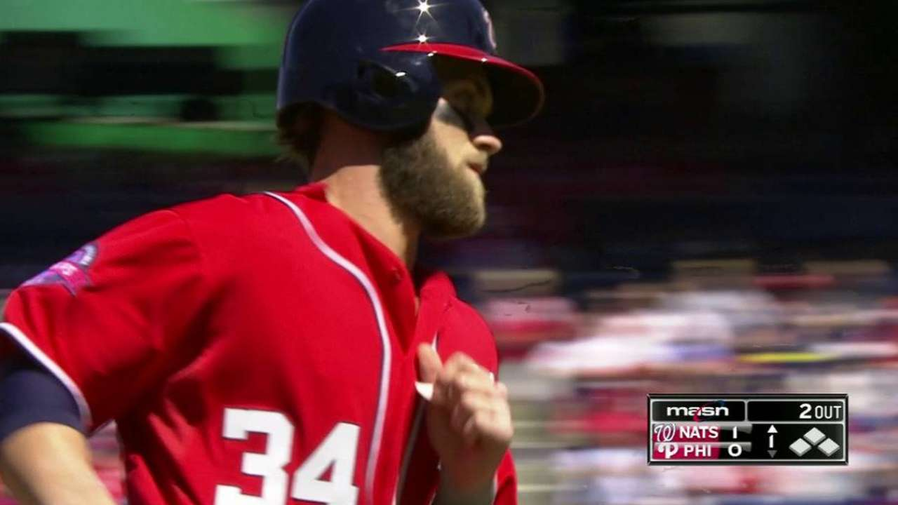 Harper's opposite-field homer