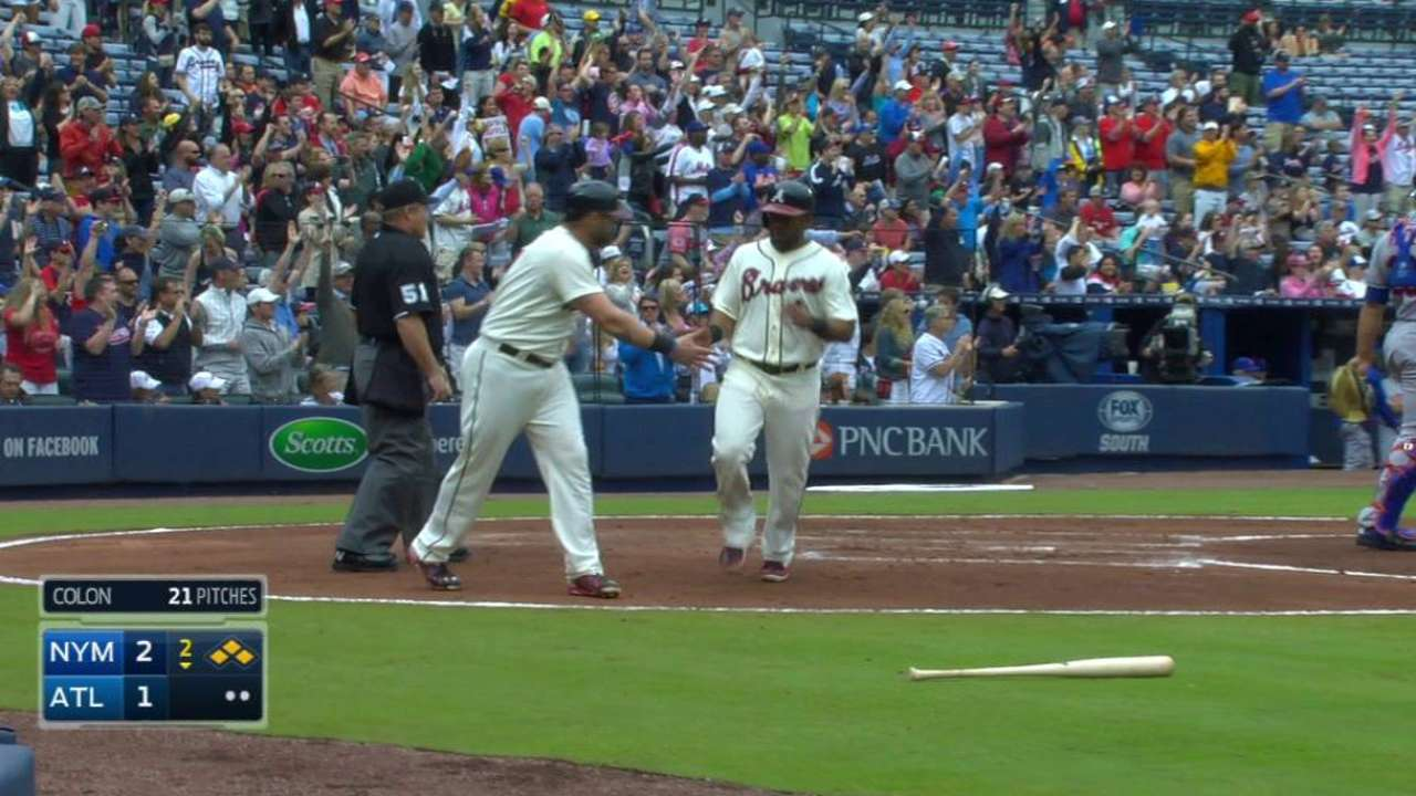 Simmons' two-run triple