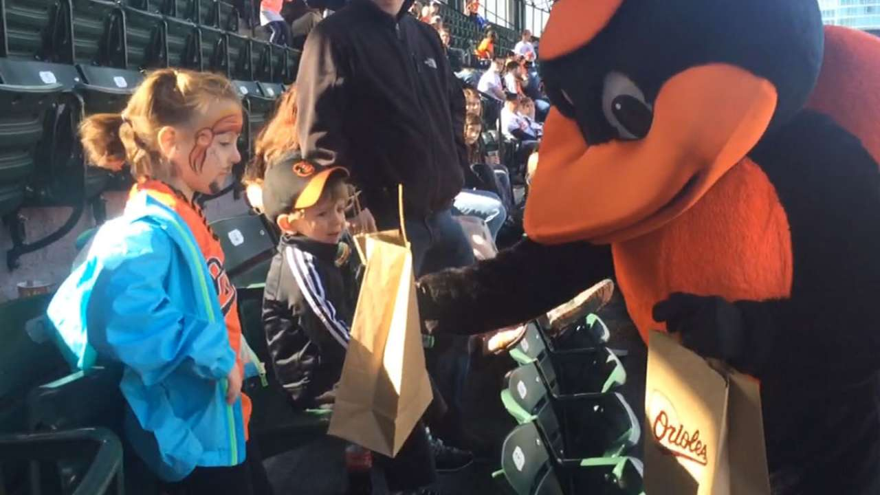 Orioles treat young fans with first Kids' Opening Day