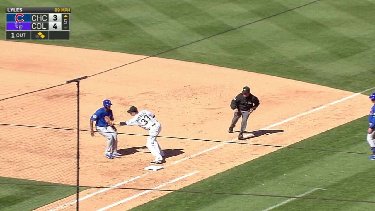 LeMahieu turns double play
