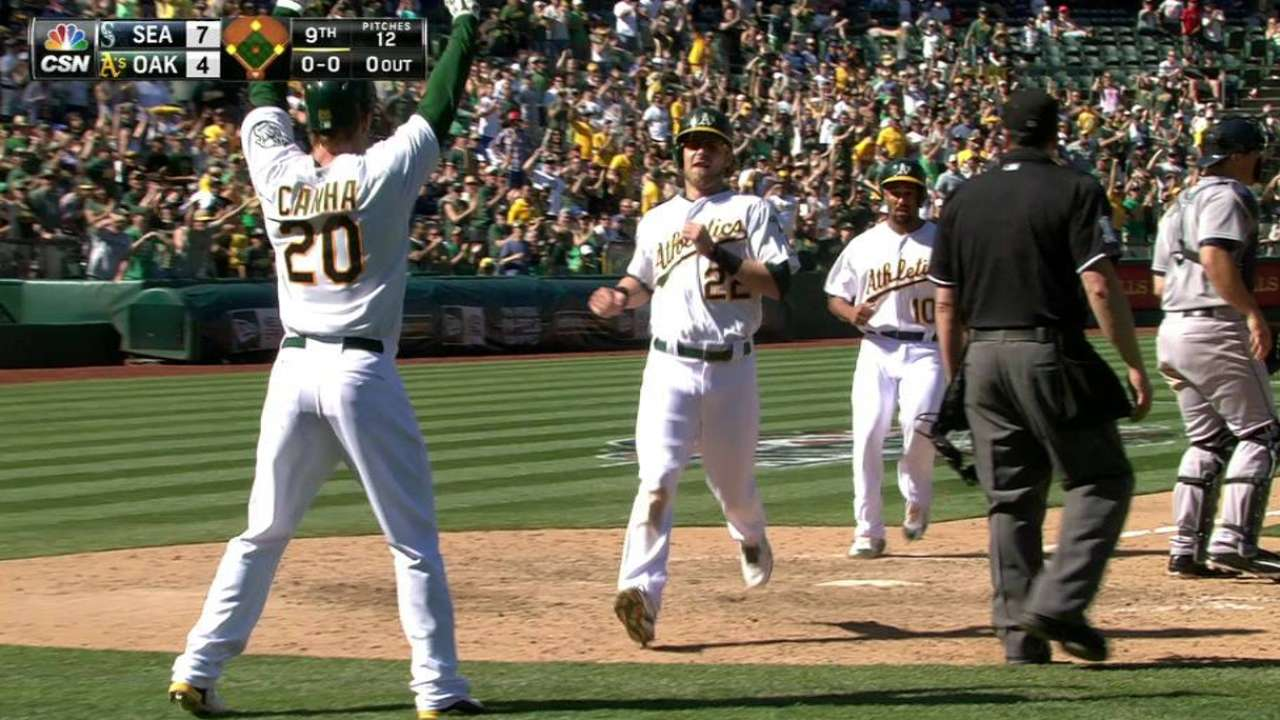 Melvin laments loss, likes grit shown by A's in rally