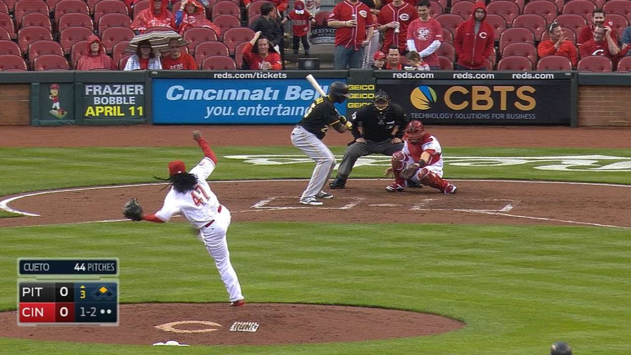 Cueto dedicates dazzling Opening Day start to mom