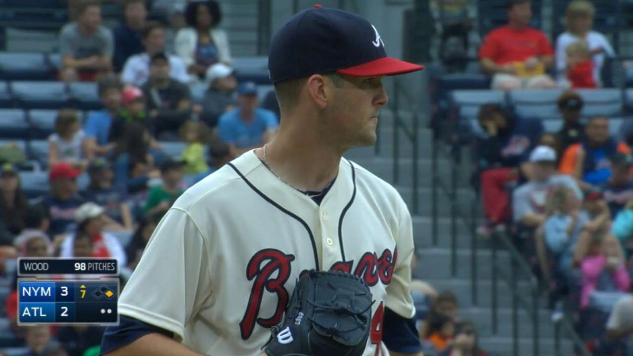 Wood disappointed by mistakes against Mets
