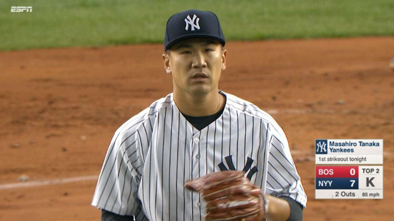Tanaka earns the win