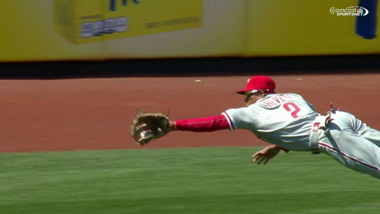 Revere turns heads with spectacular grab