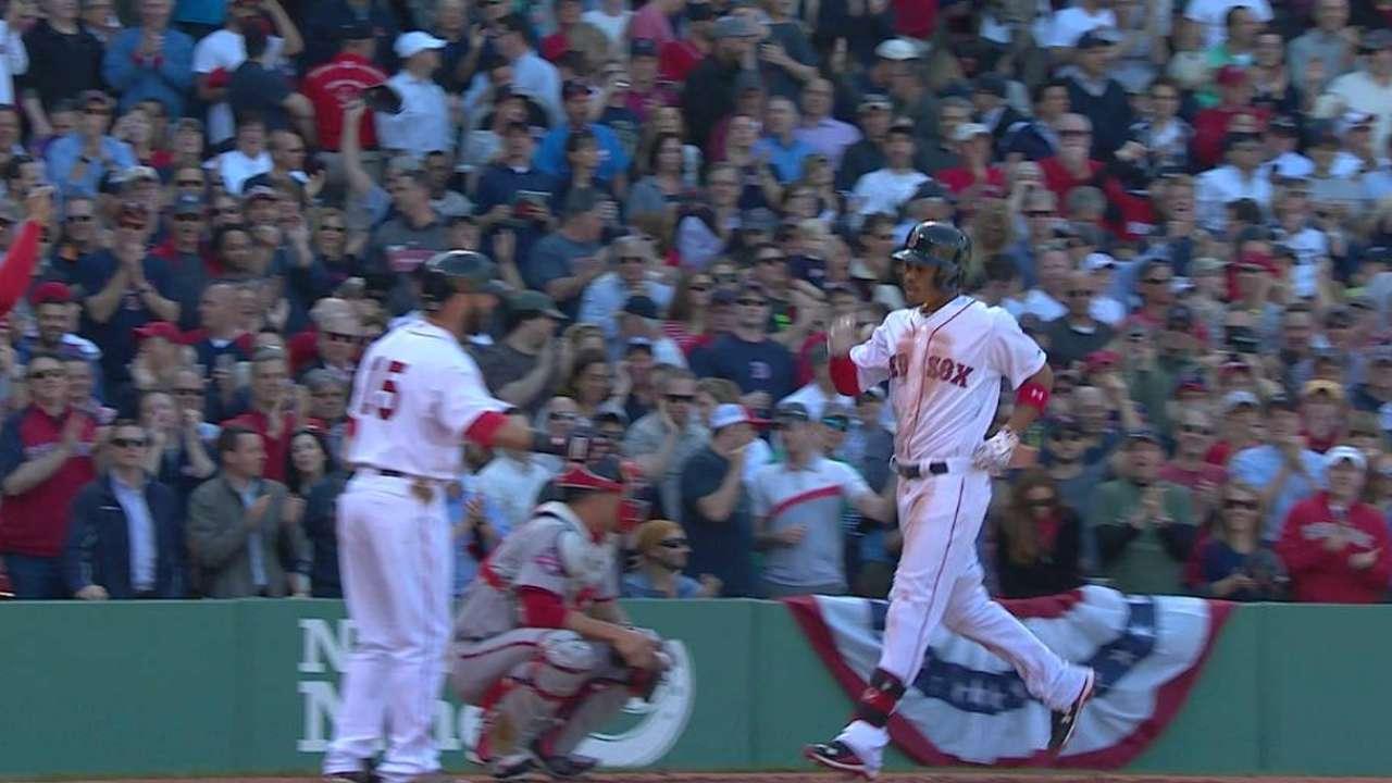Betts' three-run homer