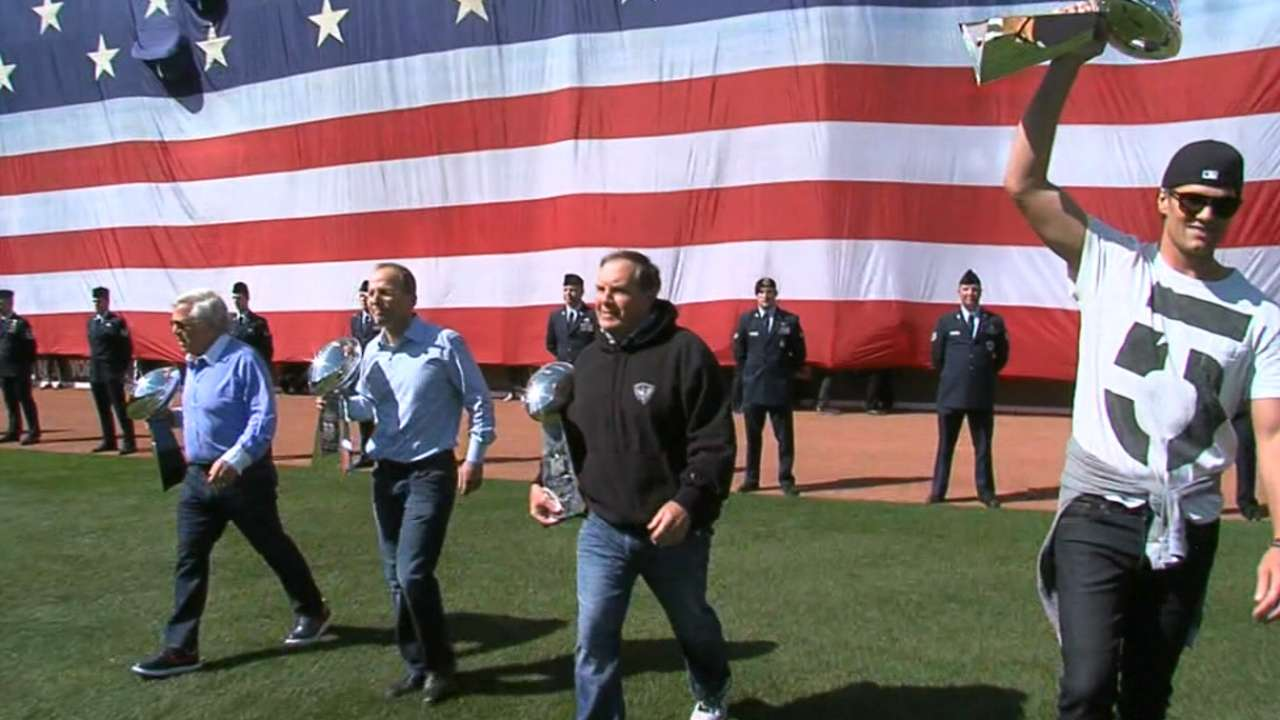 Brady caps pregame ceremonies with first pitch